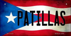 Patillas Puerto Rico State Flag License Plate Wholesale Bicycle License Plate BP-11370