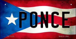 Ponce Puerto Rico State Flag License Plate Wholesale Bicycle License Plate BP-11372