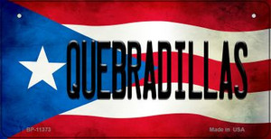 Quebradillas Puerto Rico State Flag License Plate Wholesale Bicycle License Plate BP-11373