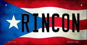 Rincon Puerto Rico State Flag License Plate Wholesale Bicycle License Plate BP-11374