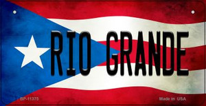 Rio Grande Puerto Rico State Flag License Plate Wholesale Bicycle License Plate BP-11375