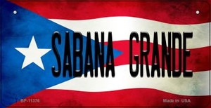 Sabana Grande Puerto Rico State Flag License Plate Wholesale Bicycle License Plate BP-11376