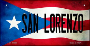 San Lorenzo Puerto Rico State Flag License Plate Wholesale Bicycle License Plate BP-11380