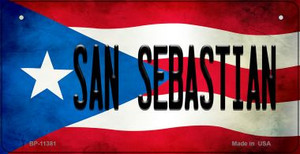 San Sebastian Puerto Rico State Flag License Plate Wholesale Bicycle License Plate BP-11381