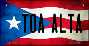 Toa Alta Puerto Rico State Flag License Plate Wholesale Bicycle License Plate BP-11383