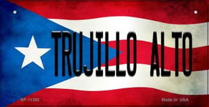 Trujillo Alto Puerto Rico State Flag License Plate Wholesale Bicycle License Plate BP-11385