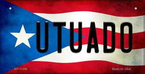 Utuado Puerto Rico State Flag License Plate Wholesale Bicycle License Plate BP-11386
