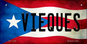 Vieques Puerto Rico State Flag License Plate Wholesale Bicycle License Plate BP-11389