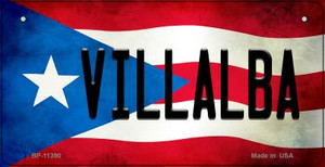 Villalba Puerto Rico State Flag License Plate Wholesale Bicycle License Plate BP-11390