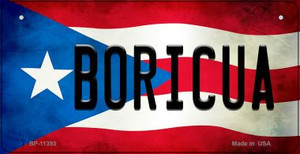 Boricua Puerto Rico State Flag License Plate Wholesale Bicycle License Plate BP-11393