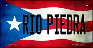 Rio Piedra Puerto Rico State Flag License Plate Wholesale Bicycle License Plate BP-11395
