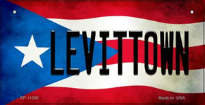 Levittown Puerto Rico State Flag License Plate Wholesale Bicycle License Plate BP-11398