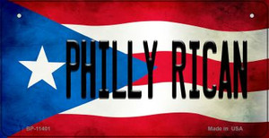 Philly Rican Puerto Rico State Flag License Plate Wholesale Bicycle License Plate BP-11401