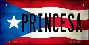 Princesa Puerto Rico State Flag License Plate Wholesale Bicycle License Plate BP-11402