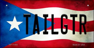 Tailgtr Puerto Rico State Flag License Plate Wholesale Bicycle License Plate BP-11403