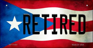 Retired Puerto Rico State Flag License Plate Wholesale Bicycle License Plate BP-11407