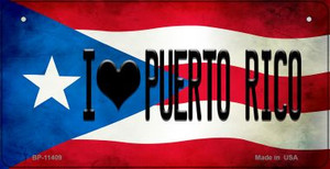 I Love Puerto Rico Puerto Rico State Flag License Plate Wholesale Bicycle License Plate BP-11409