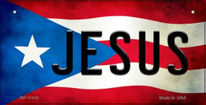 Jesus Puerto Rico State Flag License Plate Wholesale Bicycle License Plate BP-11410