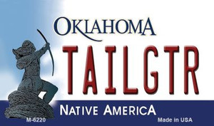 Tailgtr Oklahoma State License Plate Novelty Wholesale Magnet M-6220
