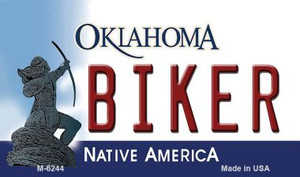 Biker Oklahoma State License Plate Novelty Wholesale Magnet M-6244