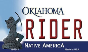 Rider Oklahoma State License Plate Novelty Wholesale Magnet M-6245