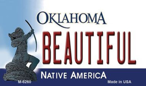 Beautiful Oklahoma State License Plate Novelty Wholesale Magnet M-6260