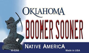 Boomer Sooner Oklahoma State License Plate Novelty Wholesale Magnet M-6268