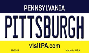 Pittsburgh Pennsylvania State License Plate Wholesale Magnet M-6049