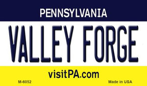 Valley Forge Pennsylvania State License Plate Wholesale Magnet M-6052