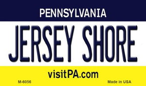 Jersey Shore Pennsylvania State License Plate Wholesale Magnet M-6056
