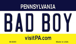 Bad Boy Pennsylvania State License Plate Wholesale Magnet M-6065