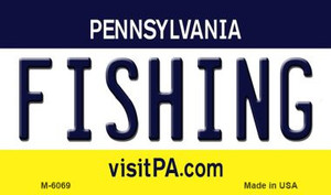 Fishing Pennsylvania State License Plate Wholesale Magnet M-6069