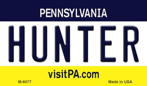 Hunter Pennsylvania State License Plate Wholesale Magnet M-6077
