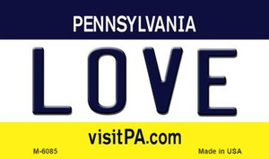 Love Pennsylvania State License Plate Wholesale Magnet M-6085