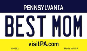 Best Mom Pennsylvania State License Plate Wholesale Magnet M-6662