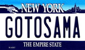 Gotosama New York State License Plate Wholesale Magnet M-4067