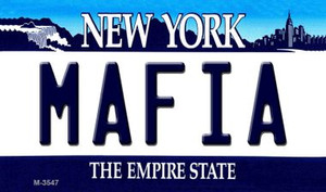 Mafia New York State License Plate Wholesale Magnet M-3547