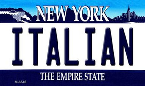 Italian New York State License Plate Wholesale Magnet M-3546