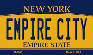 Empire City New York State License Plate Wholesale Magnet M-8946