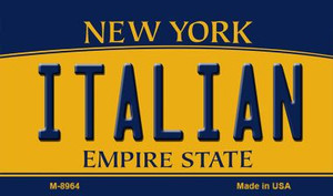 Italian New York State License Plate Wholesale Magnet M-8964