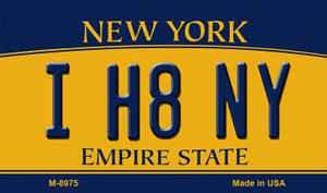 I H8 NY New York State License Plate Wholesale Magnet M-8975
