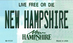 New Hampshire State License Plate Wholesale Magnet M-11131