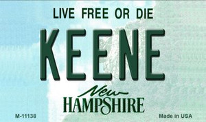 Keene New Hampshire State License Plate Wholesale Magnet M-11138