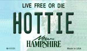 Hottie New Hampshire State License Plate Wholesale Magnet M-11151
