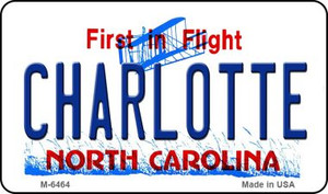 Charlotte North Carolina State License Plate Wholesale Magnet M-6464