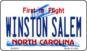 Winston Salem North Carolina State License Plate Wholesale Magnet M-6476