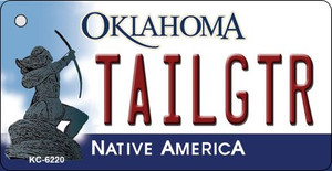 Tailgtr Oklahoma State License Plate Novelty Wholesale Key Chain KC-6220