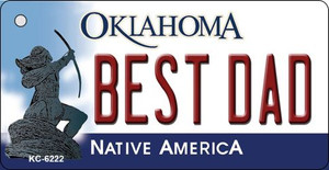 Best Dad Oklahoma State License Plate Novelty Wholesale Key Chain KC-6222
