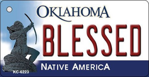 Blessed Oklahoma State License Plate Novelty Wholesale Key Chain KC-6223