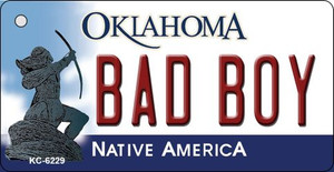Bad Boy Oklahoma State License Plate Novelty Wholesale Key Chain KC-6229